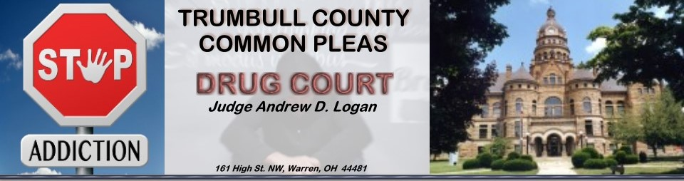 Heading introducing  Trumbull County Common Pleas Drug Court.